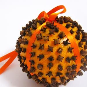 pomarańcza z goździkami odstraszająca komary