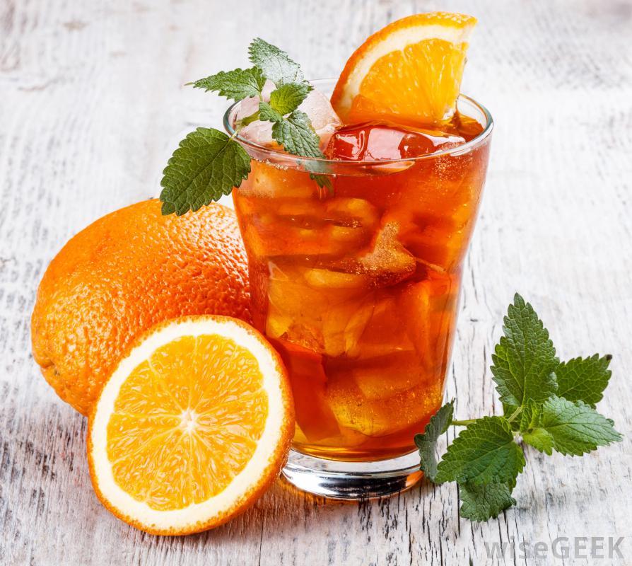 rozgrzewający drink z pomarańczą