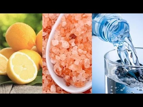 woda z cytryną i solą himalajską