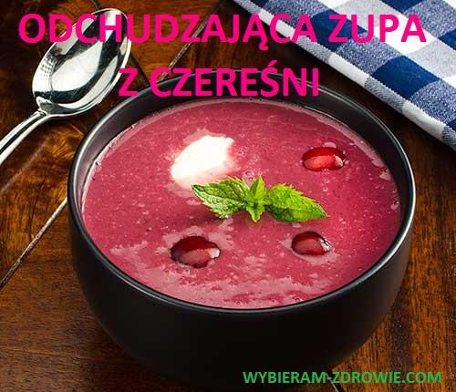 odchudzająca zupa z czereśni