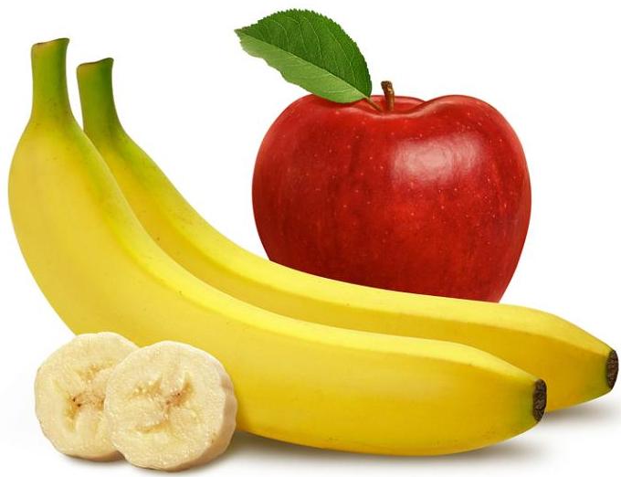 banany z jabłkiem